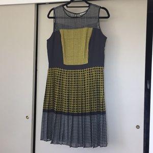 Halogen petite woman's pleaded skirt dress